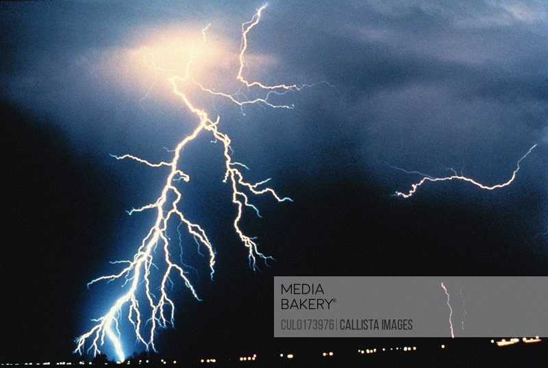 Lightning photograph from NOAA's National Severe Storms Laboratory NSSL Collection