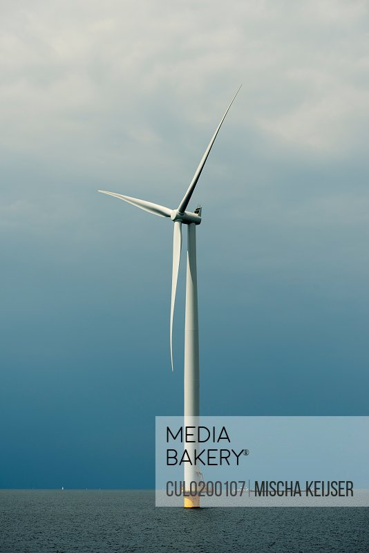 Offshore wind turbine IJsselmeer lake Espel Flevopolder Netherlands