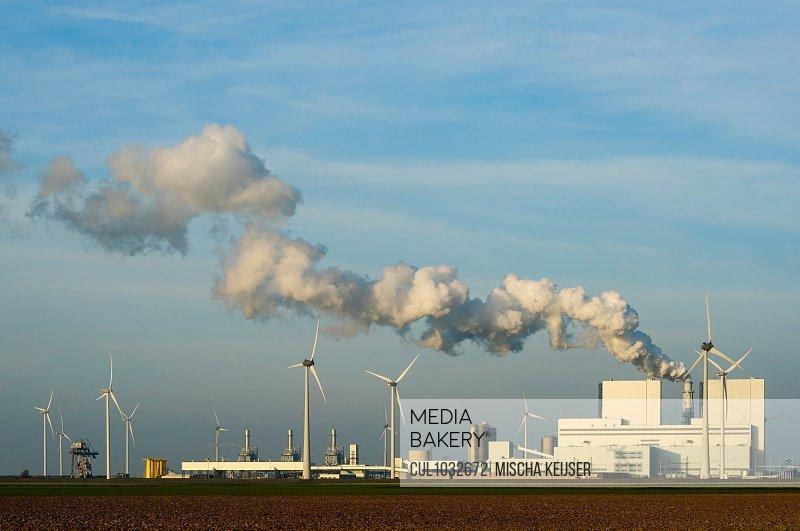 Coal fired power station, Eemshaven harbour area, Groningen, Netherlands