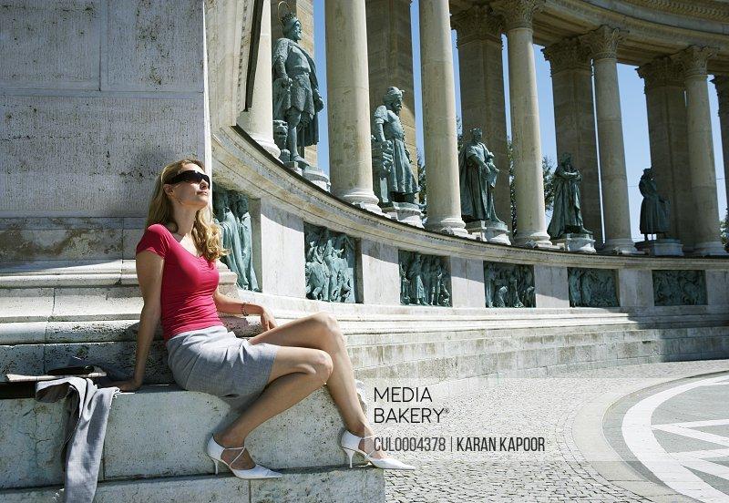 Businesswoman in Hero Square.