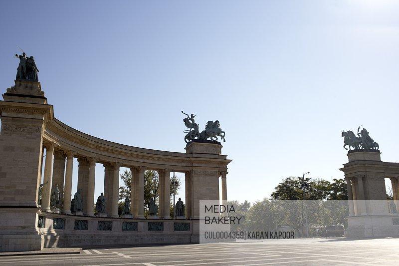 Hero Square in Hungary.
