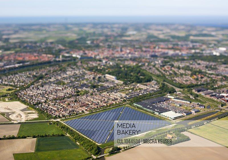 Solar farm built on the edge of the town of Middelburg