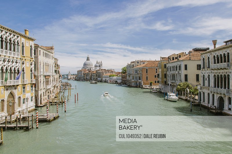 The Grand Canal, Venice with a view of Santa Maria della Salute