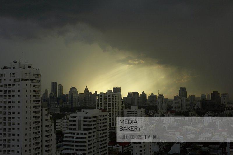 storm over central Bangkok