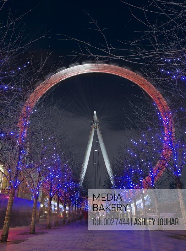Fairground Wheel at night