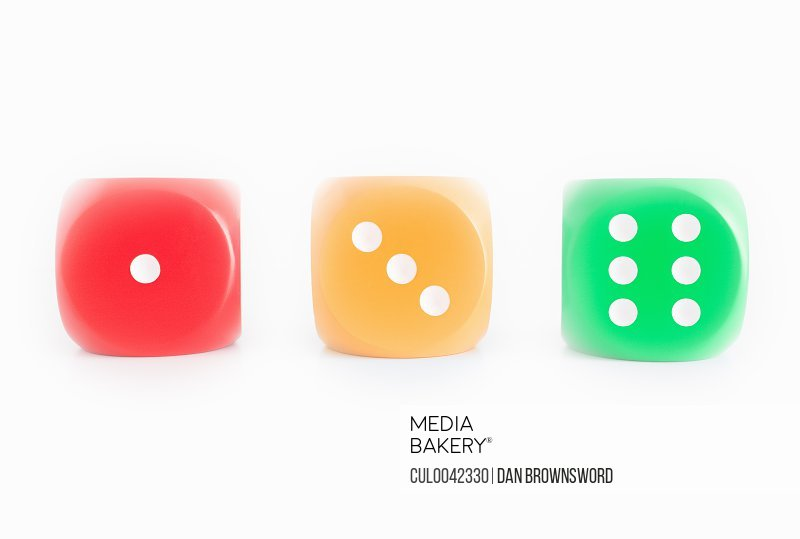 Dice with Stop Go Colors