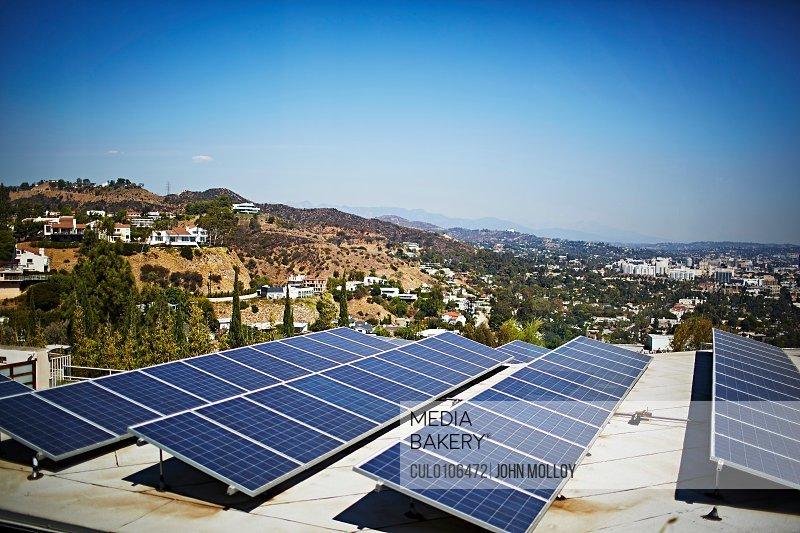 Solar panels Los Angeles California USA