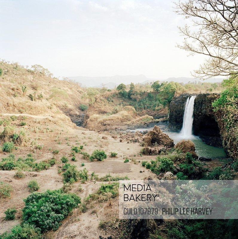 View of the Tissisat Falls Blue Nile Lake Tana North West Ethiopia