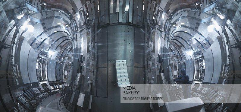 Scientist Inside A Fusion Reactor