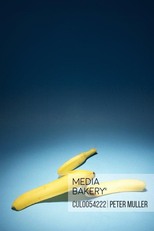 Banana skin on ground