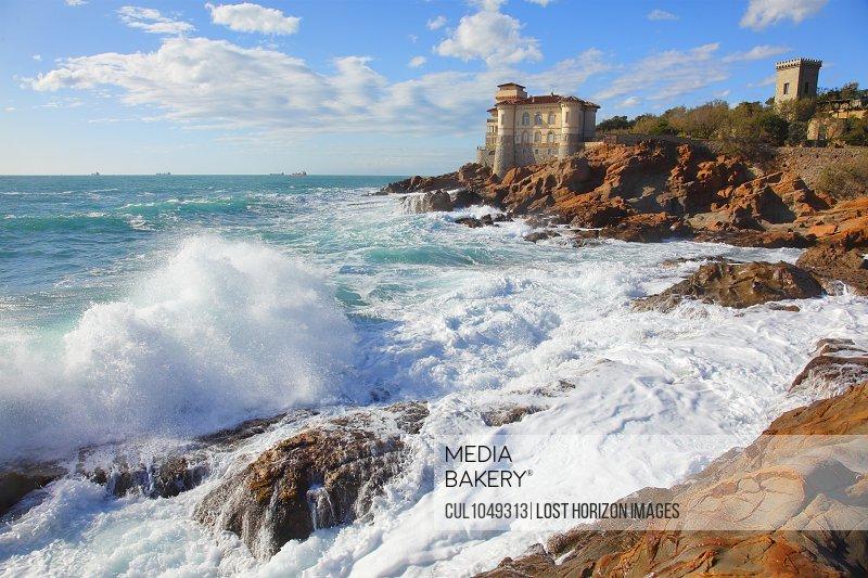 Calafuria Gulf, Tirreno sea, Livorno, Tuscany, Italy