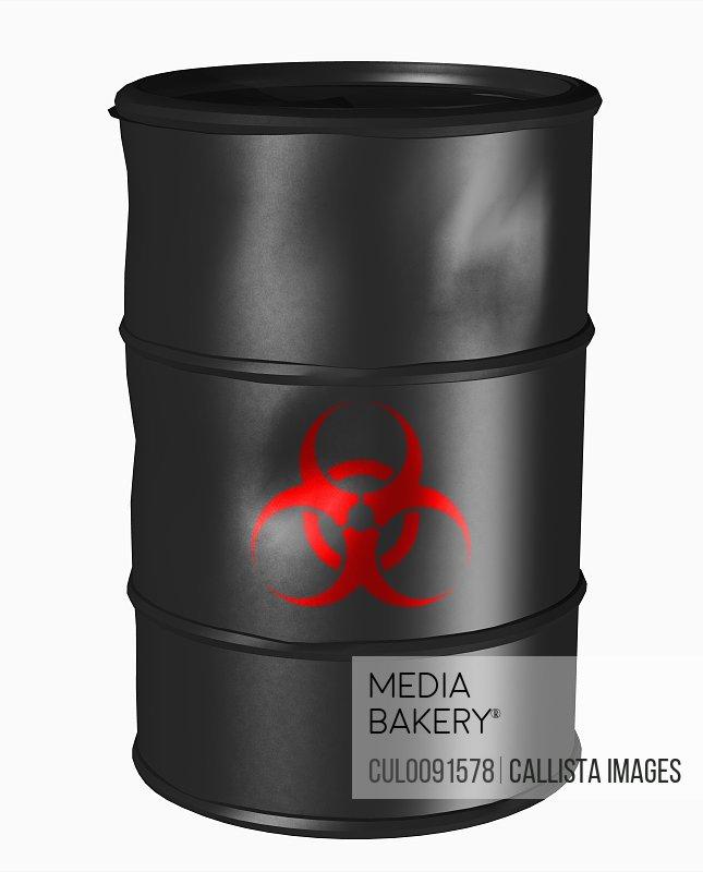 Barrel with a toxic symbol