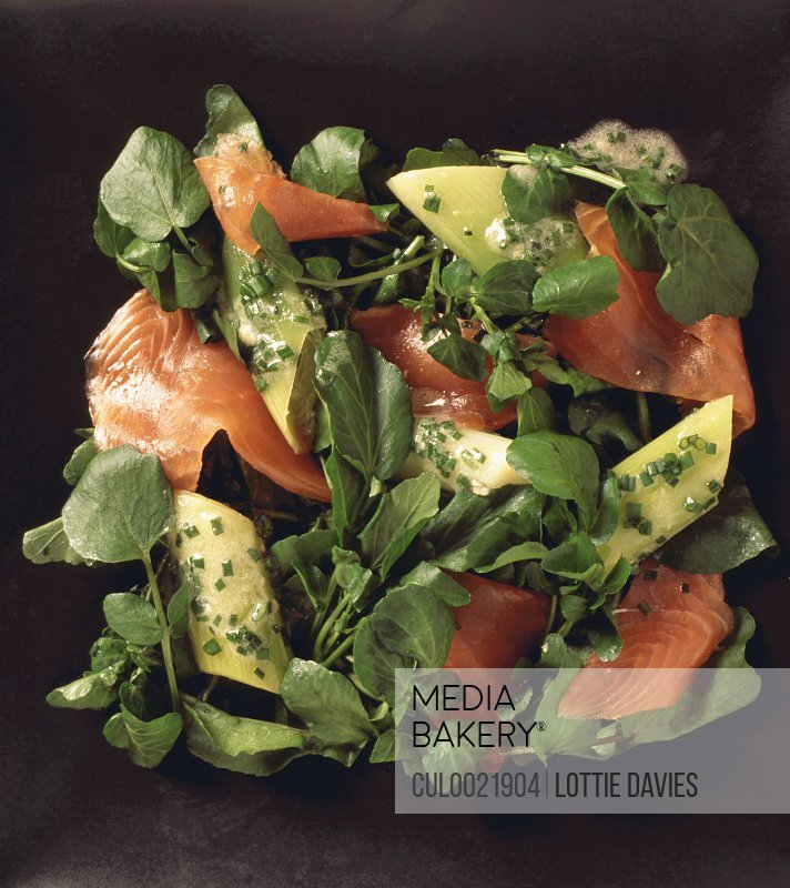 Food - watercress and salmon salad