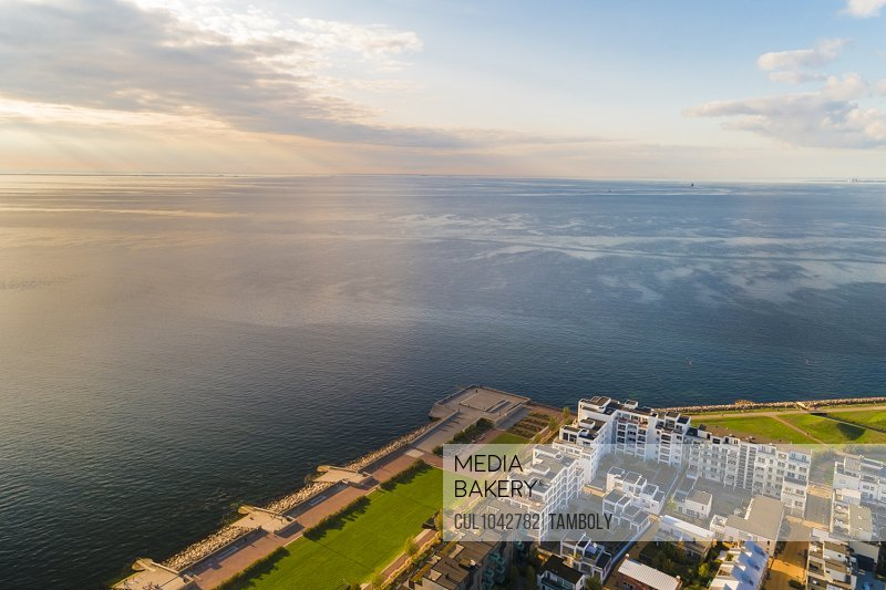Aerial view of Malmo's seafront.