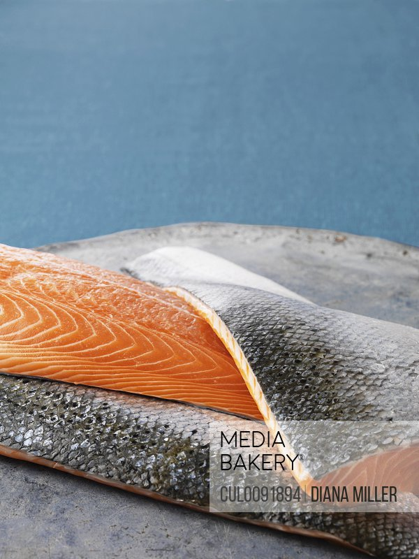 Close up of salmon filets