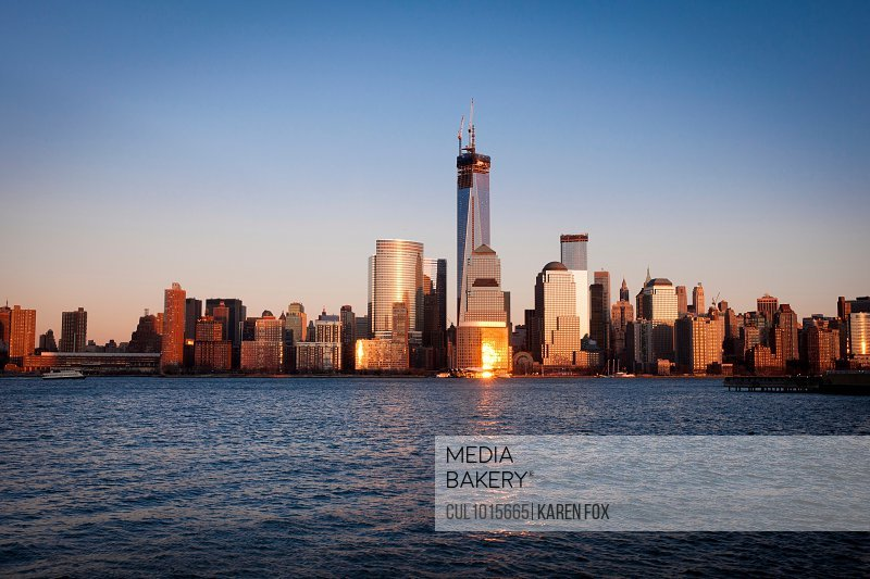 Skyline of Manhattan (view from Jersey City), New York City, USA