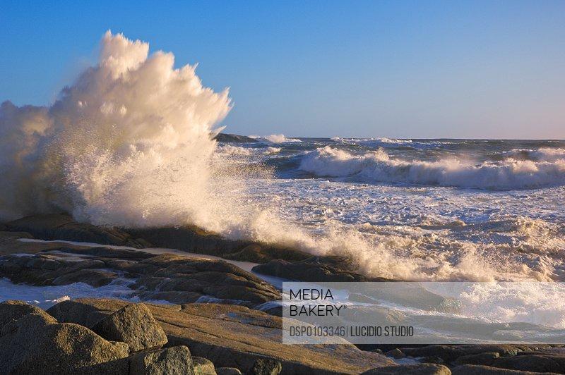 Atlantic Ocean Waves. Nova Scotia, Canada.
