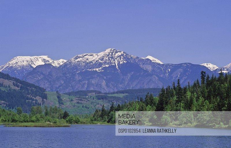 Cayoosh Mountain Range Rises Behind One Mile Lake, Near Pemberton