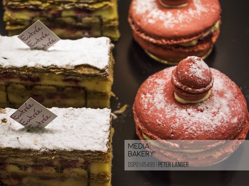 Mille-feuille and macaroons; Tbilisi, Georgia