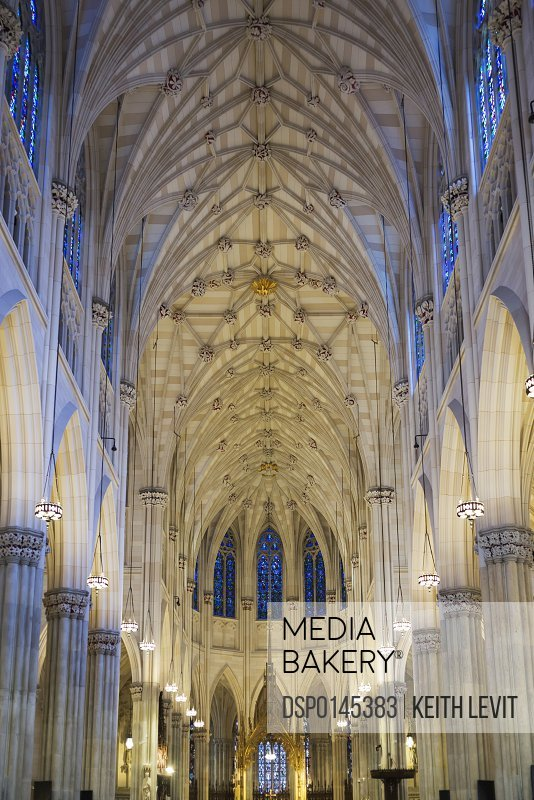 Interior of Saint Patrick's Cathedral; New York City, New York, United States of America