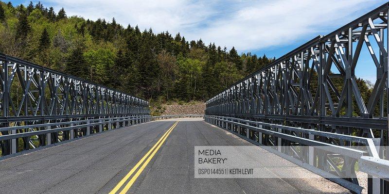 Road bridge crossing over Meat Cove; Dingwall, Nova Scotia, Canada