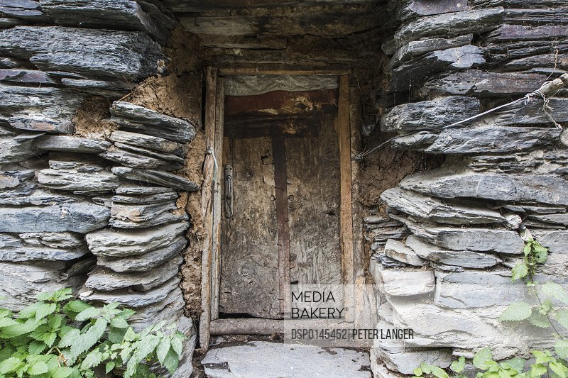 Door in a house in Zhibiani village; Ushguli, Samegrelo-Zemo Svaneti, Georgia