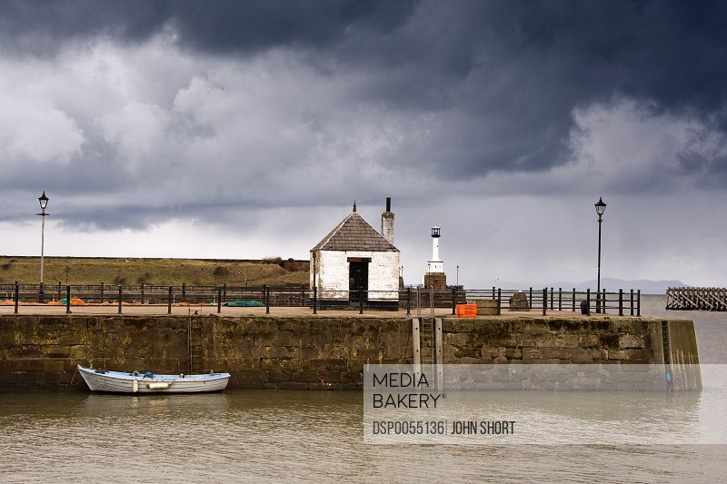 Waterfront in Maryport, Cumbria, England
