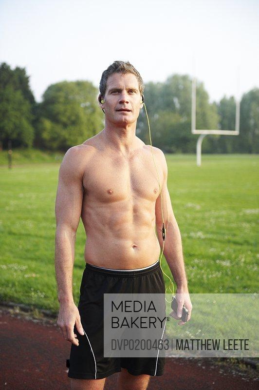 Male athlete on trackfield