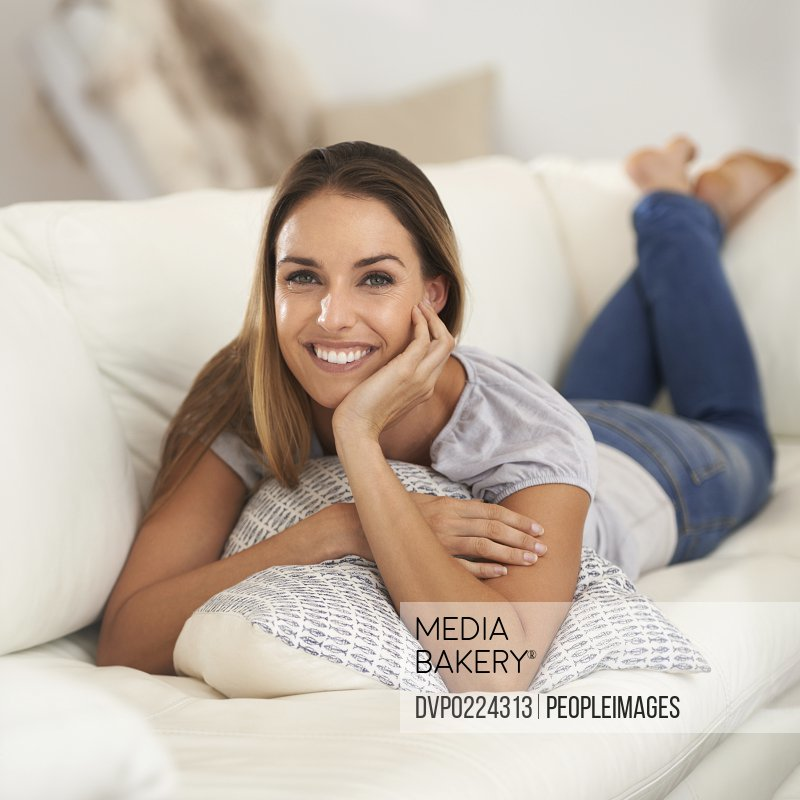Shot of a beautiful woman sitting indoors