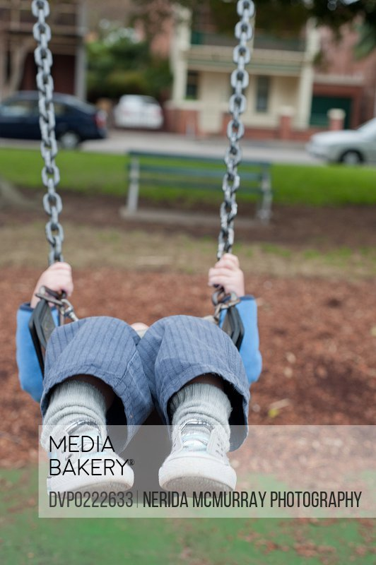 Young child on swing