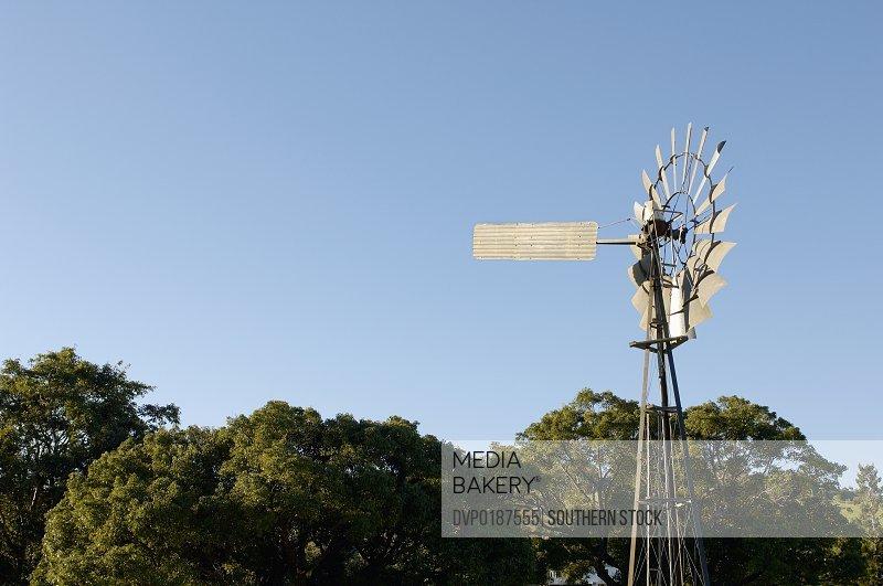 Irrigation pump on Australian farm land