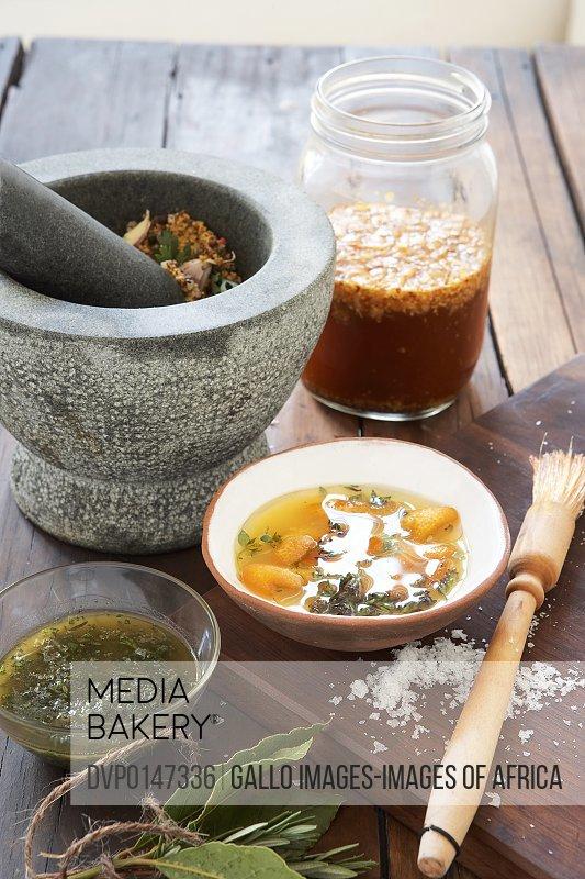 Ingredients for preparing marinade sauce