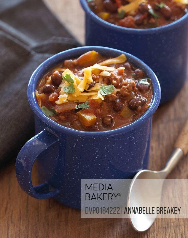 Healthy Turkey Black Bean Chili in Cup