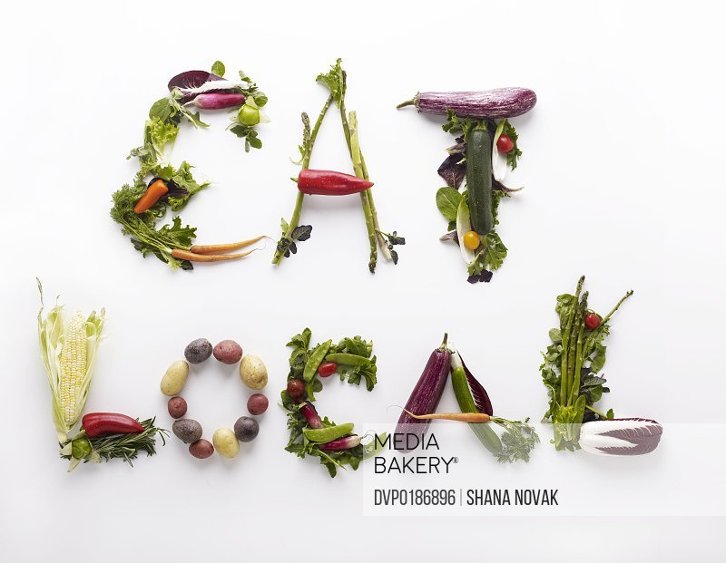 Eat Local Spelled in Produce