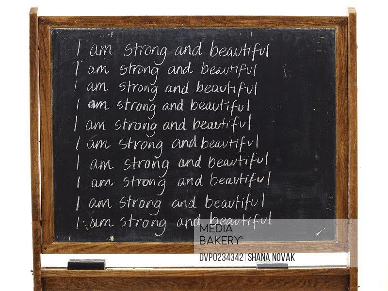 Daily Affirmation Chalkboard