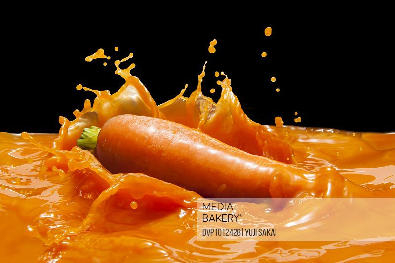 Carrot fall down in  Vegetables juice