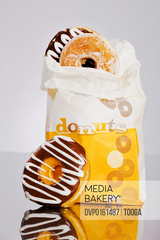 Retro bag of donuts