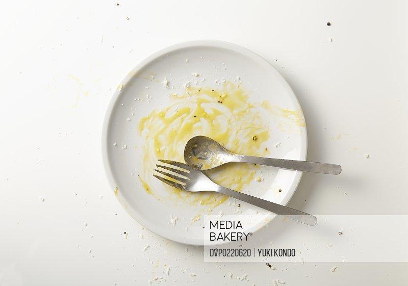Spaghetti carbonara you have finished eating.