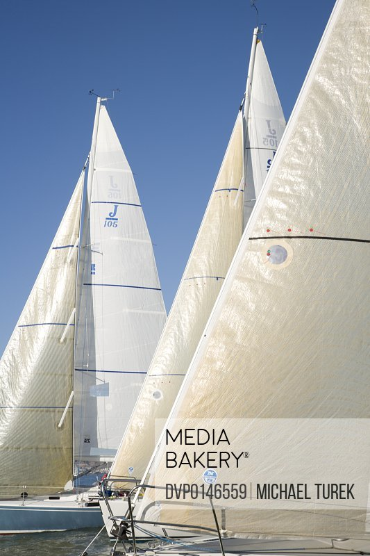 Sails boats racing