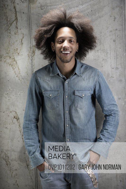 Studio shot male African American