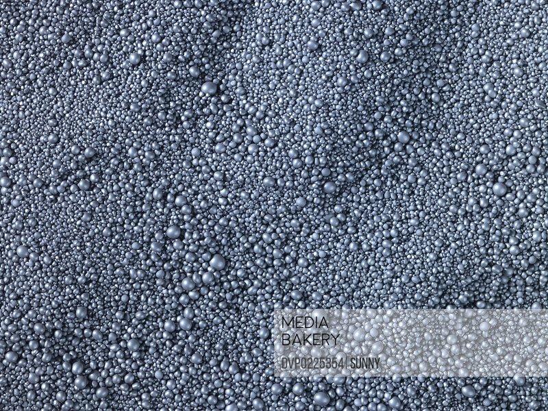 Spherical granules in landscape view