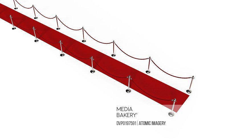 Path of Red carpet Red rope