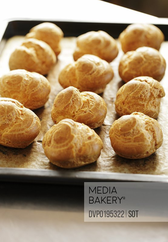 Cream Puffs on oven tray