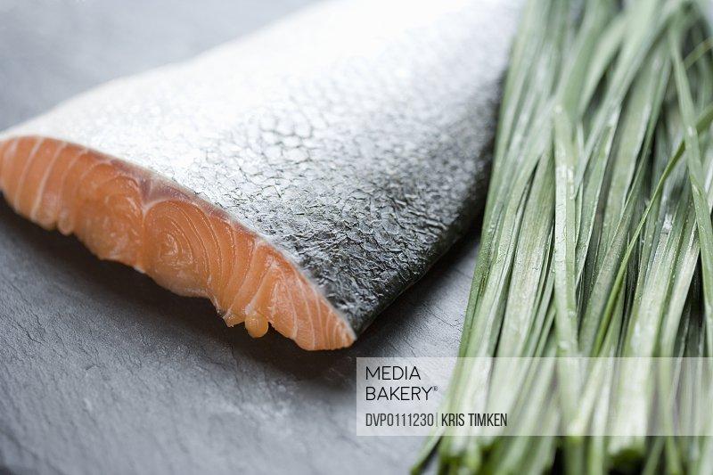 Raw fish and herbs