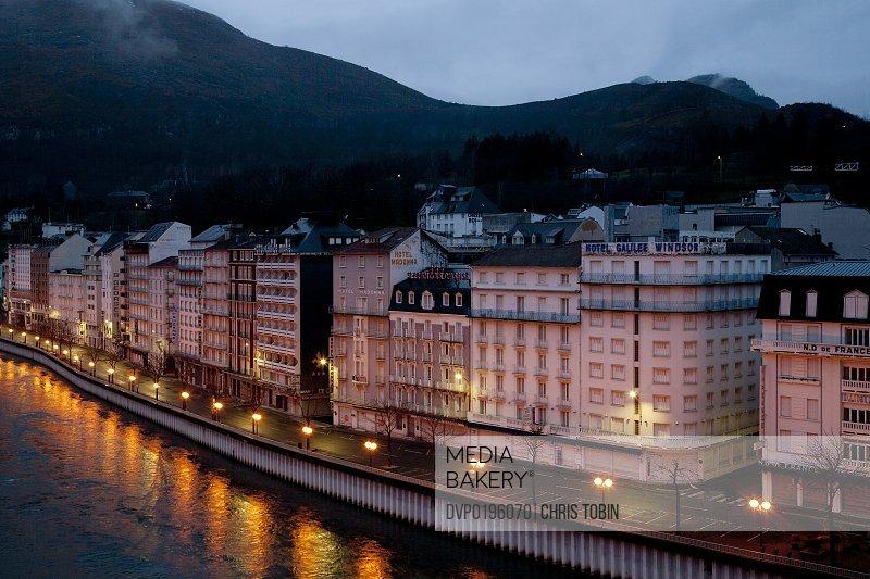 Lourdes by night