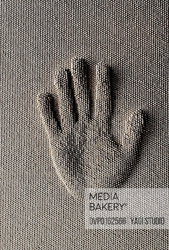 The palm made with a nail