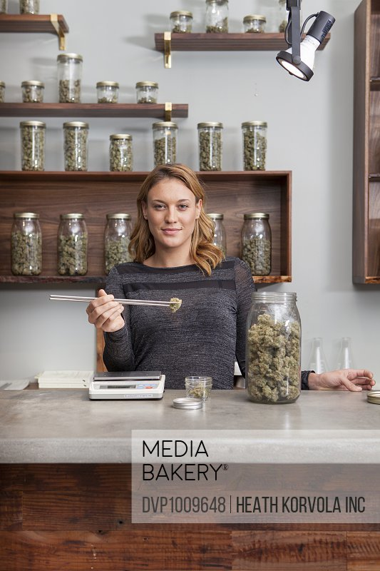 The small business proceedings of a local marijuana dispensary in Portland, Oregon.