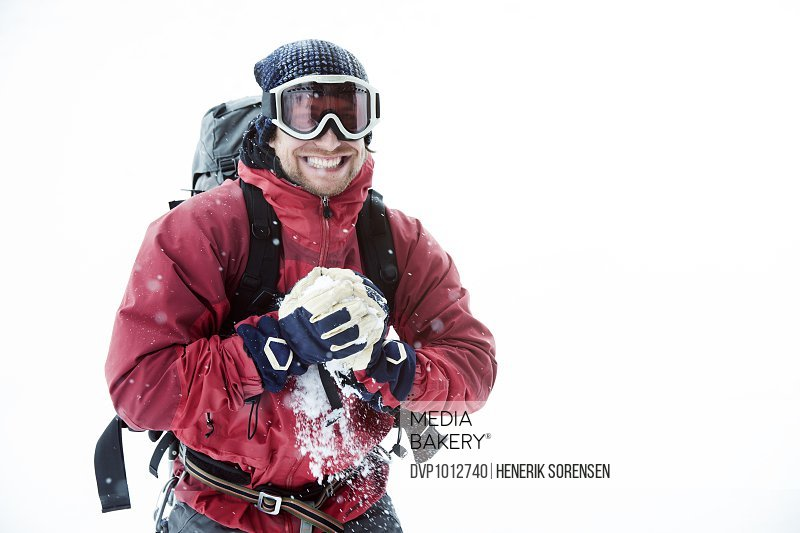 portrait of young mountaineer