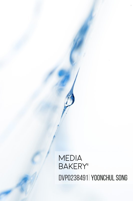 water drops on white background, close-up