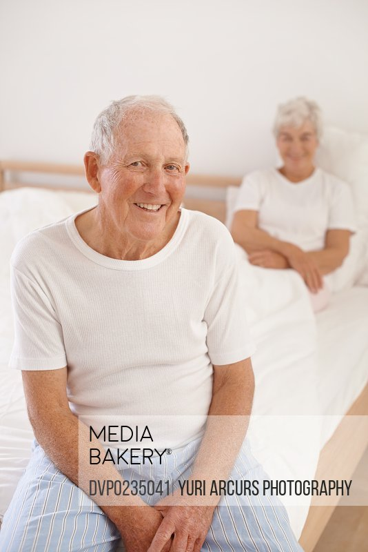 Shot of a senior couple in their bedroom early in the morning